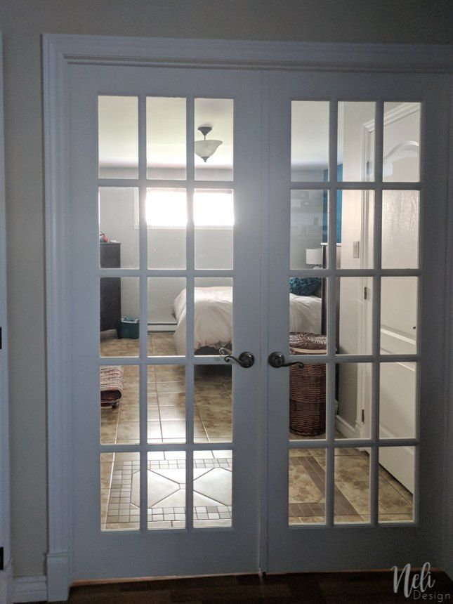How To Add Privacy To French Doors For Only 13 Diy French Doors French Doors Patio Door Makeover