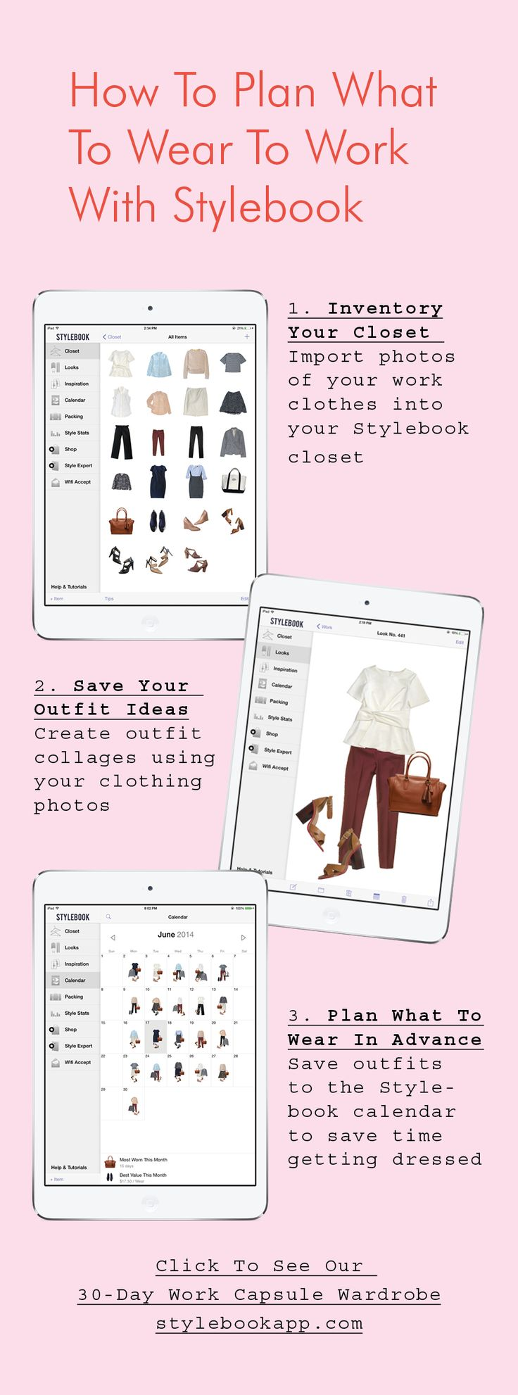 How to plan your weekly outfits with Stylebook, the closet organization app (use photos of your real clothes!)