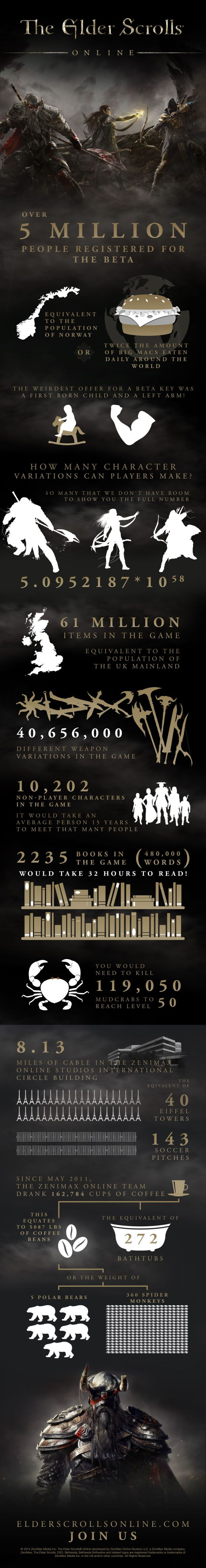 Elder Scrolls Online : Interesting Facts #infographic