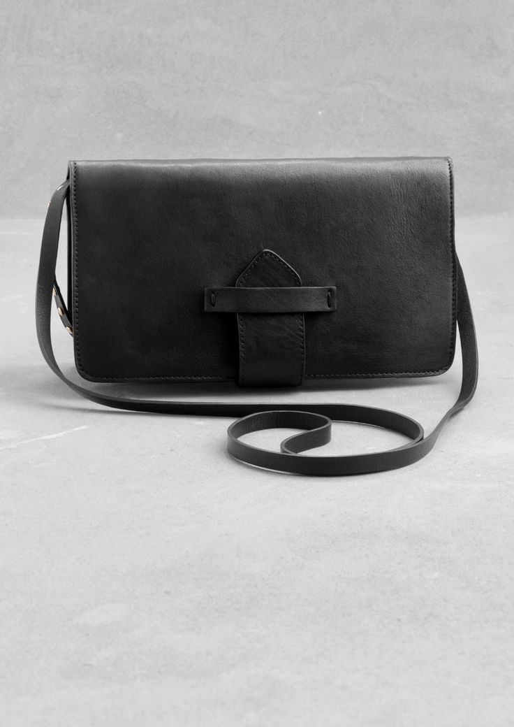 & Other Stories   Small leather shoulder bag