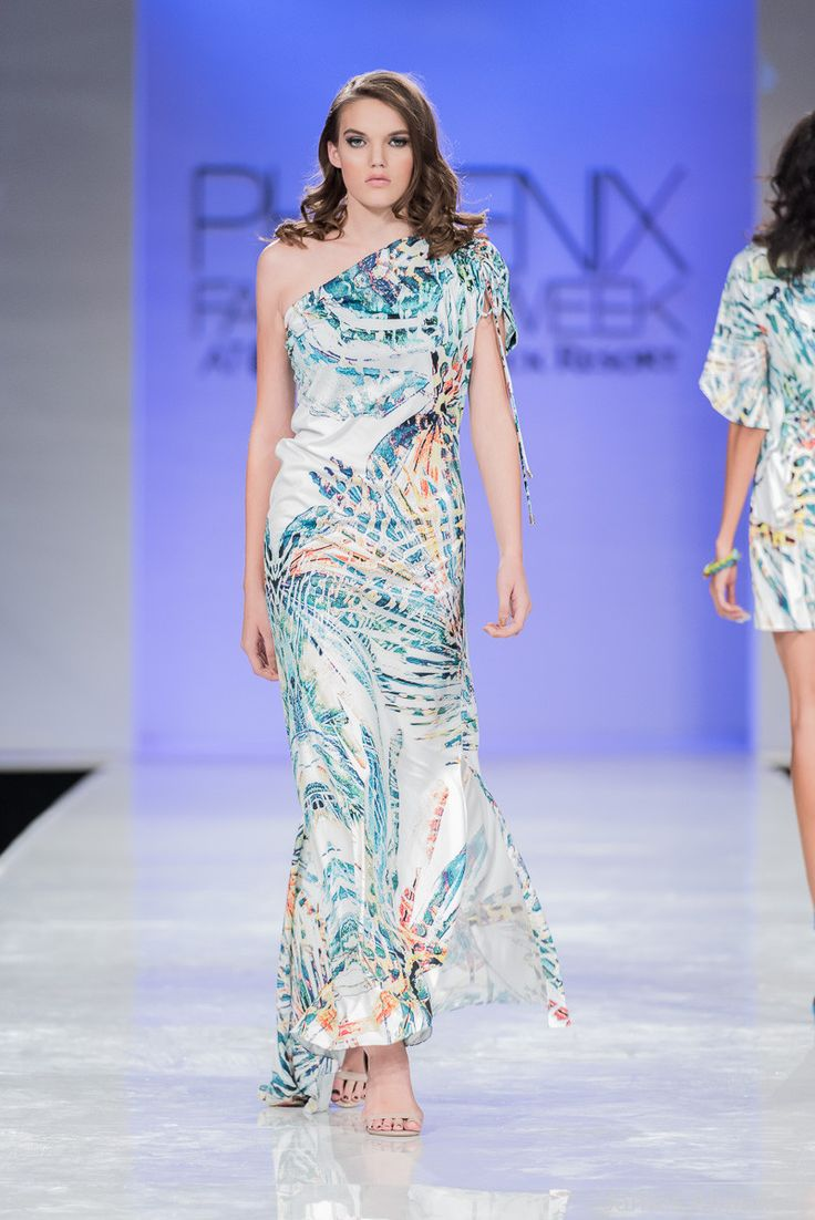 Carib One Shoulder Maxi Dress