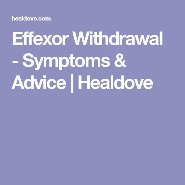 Effexor Withdrawal - Symptoms & Advice | Healdove