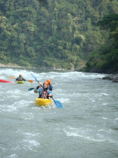 Happy times on the Trisuli river in Nepal whilst learning to whitewater kayak! Www.grgadventurekayaking.com