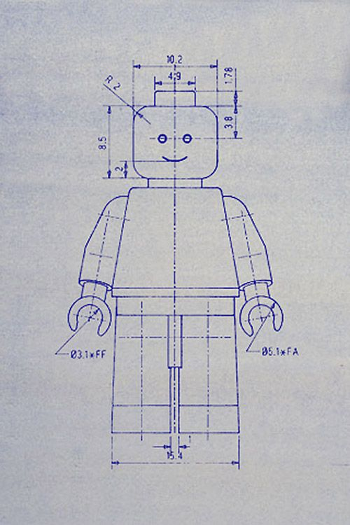 blue prints of favorite toys (math and art).