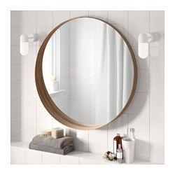 STOCKHOLM Mirror, walnut veneer - 80 cm - IKEA