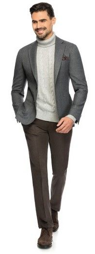 Grey fine serge - Made to Measure jacket by Louis Purple