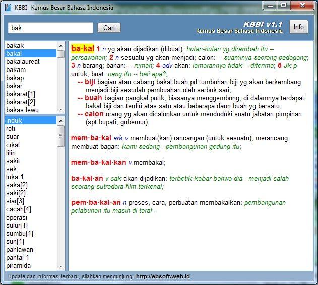 Kamus Besar Bahasa Indonesia tersedia dalam Syumila NU