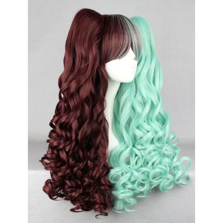 Chocolate and Mint Ponytail Wig