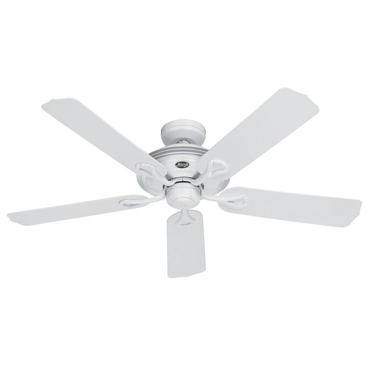 """Hunter 52"""" Traditional Outdoor White Finish 3 Speed Ceiling Fan  Remote Optional #Hunter #  $83.95 w/remote.  $73.95 without."""