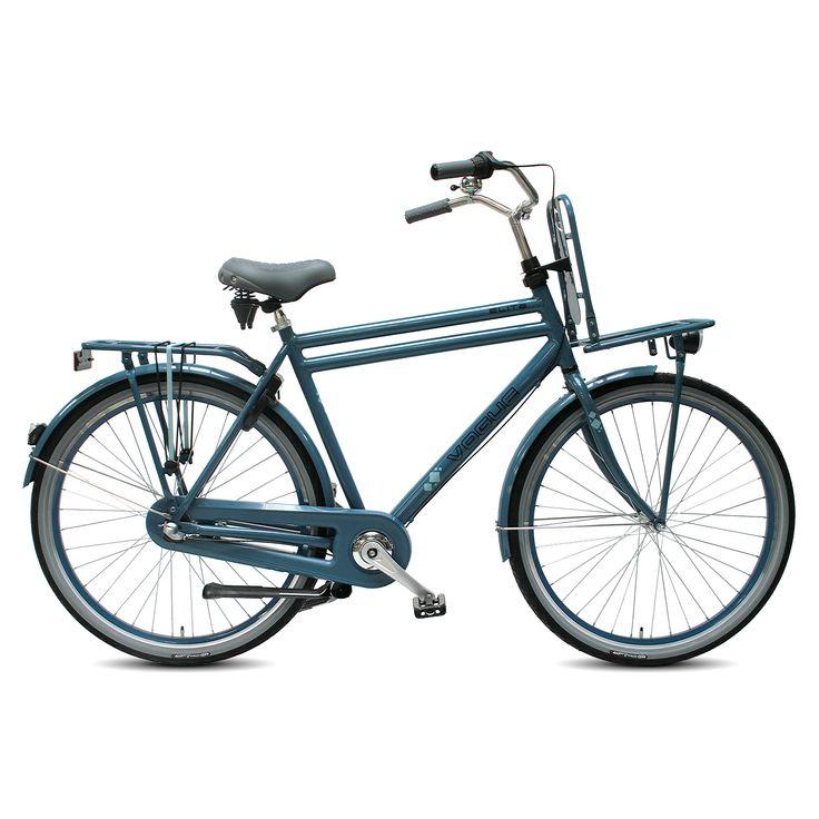 Vogue Transportfiets Elite Special Edition heren blauw 57cm Blauw  Description: De Vogue Elite Special Edition heren blauw is een transportfiets die zich uitstekend leent voor het gebruik in de stad. Met de draaischakelaar schakel je moeiteloos en trap je met de Shimano Nexus 3 versnellingen altijd lekker licht. Dit komt ook door het aluminium oversized frame waardoor je fiets naast heel sterk ook heel licht is. Je komt snel tot stilstand met de Shimano terugtraprem achter. De fiets is…