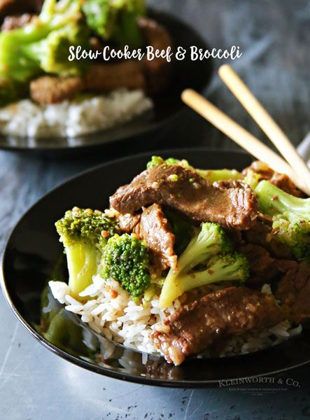 Easiest Slow Cooker Beef & Broccoli