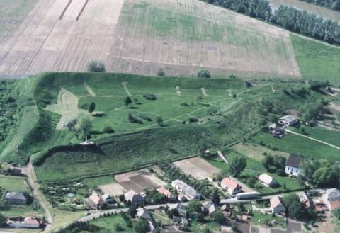 A szabolcsi földvár légifotón