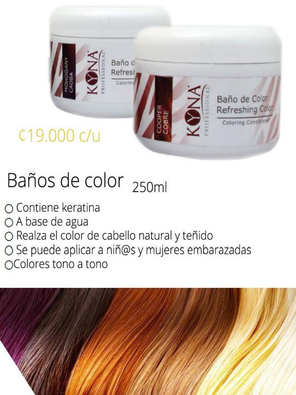 Banos De Color Que Cuidan Tu Cabello Con Keratina Mas Informacion