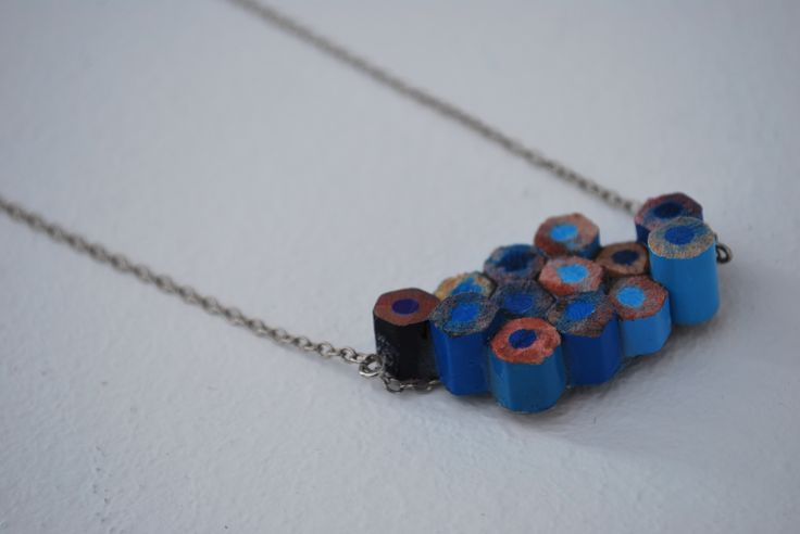 necklace made with pencils