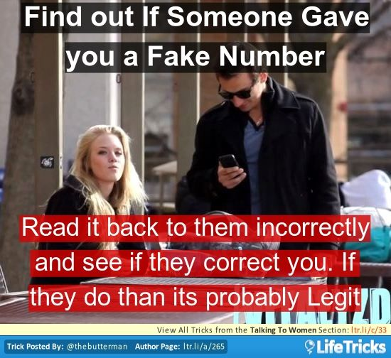 Fake number for online dating
