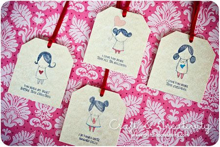 Dagens pyssel, presentetiketter -Craft of the Day, gift tags | Craft & Creativity