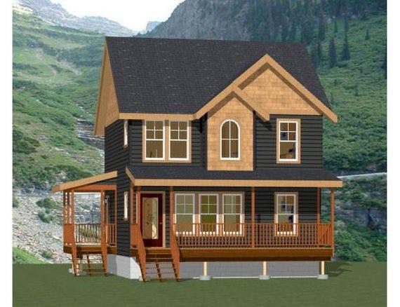 24x24 Duplex 1096 Sq Ft Pdf Floor Plan Instant Etsy Floor Plans Small Cabin Plans Townhouse Designs
