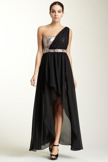 Jump One Shoulder Animal Print Underlay Sequin Dress