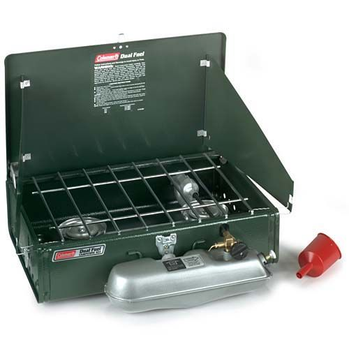 Coleman Dual Fuel 2-Burner Stove  I swear it looks just like it did when I was a kid in the late 70's.