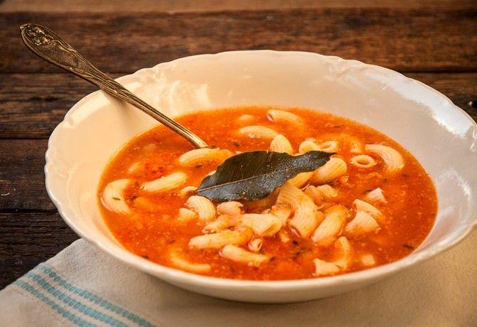 Olasz babos-tésztás leves