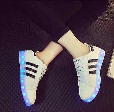 UK-Stock-Leuchtende-LED-Farbwechsel-Schuhe-Sneaker-Blinkschuhe-Unisex-Shoes-Neu
