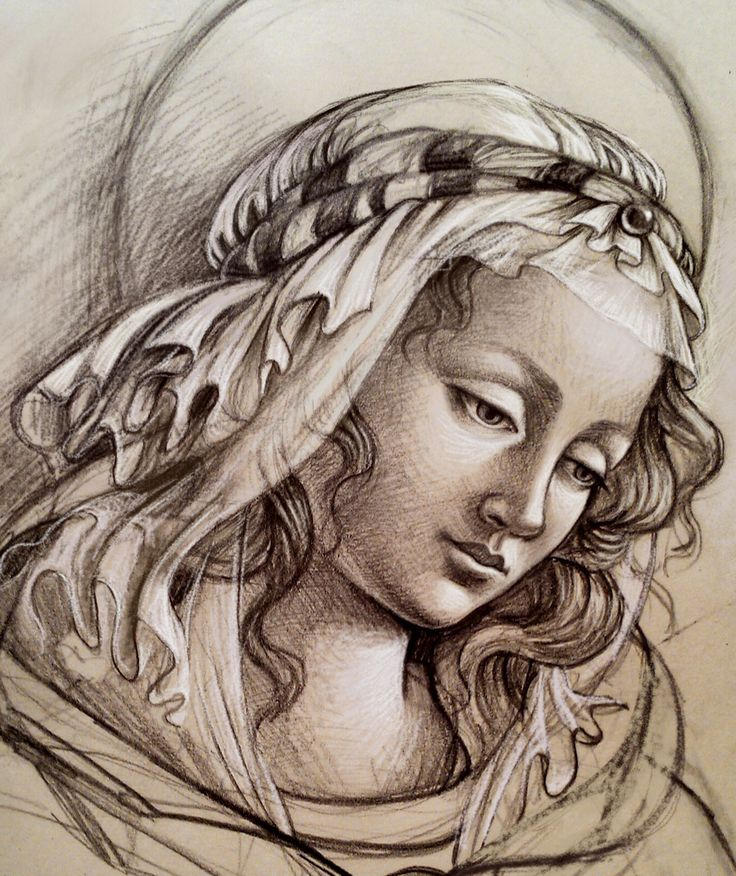 G. Dalli Cani - Madonna's sketch (teaching sample) - hand rendering and iPad drawing Apps. 2015