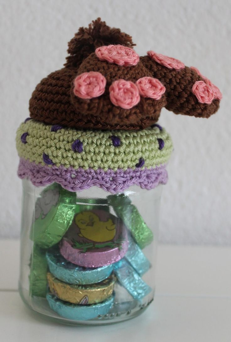 1000+ images about Haken deksels - Crochet jar toppers on ...