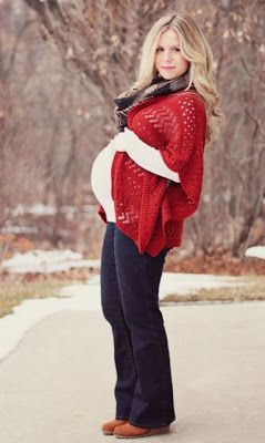 Fall/Winter Maternity Fashion Style I'm not pregnant but I love the red sweater!