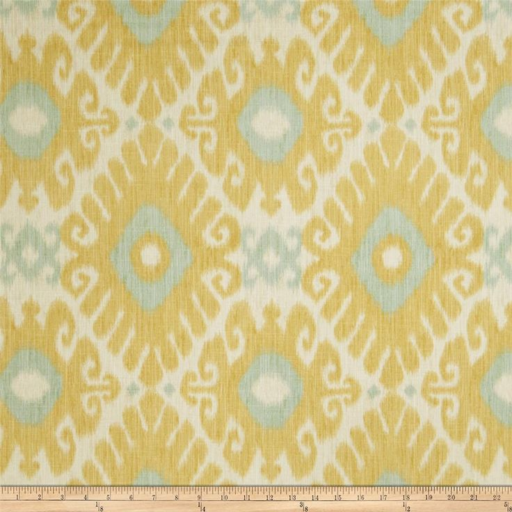 Jaclyn Smith 02606 Linen Blend Lemon Zest from @fabricdotcom  Screen-printed on a linen/rayon blend, this versatile medium/heavyweight fabric features slubs and is perfect for most window treatments (draperies, valances, curtains), accent pillows, duvet covers, slipcovers, ottomans, upholstery and tote bags.