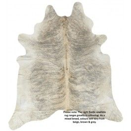 NATURAL COWHIDE LIGHT EXOTIC