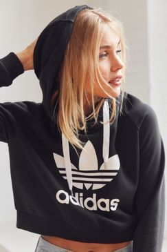 Urban Outfitters adidas Originals Trefoil Cropped Hoodie Sweatshirt Found on my new favorite app Dote Shopping #DoteApp #Shopping