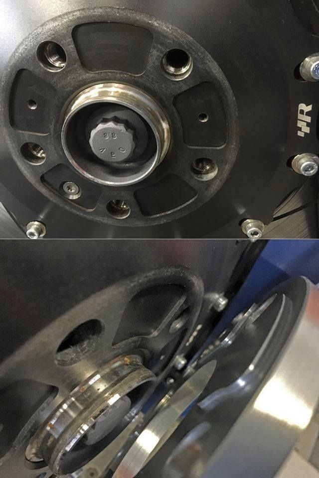 Our VWR Hub Adaptors (patent pending) allow you to fit wheels of your choice over the BBK, from OEM wheels through to big aftermarket rims.  Available in either 5mm, 7mm or 10mm width, they mechanically locate onto the hub with male/female pockets, then screw up tight to form a locked part of the central bell.