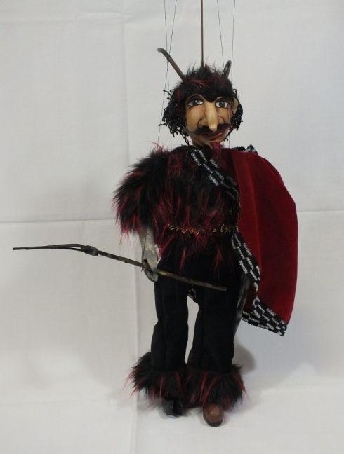 Loutka - Čert, 43 cm