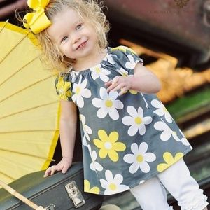 Ruffled Lilly Swing Top/Dress...12m-4t Pattern by Ginger & Louise Pattern Company