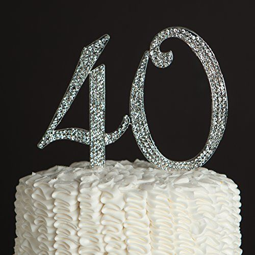 40 Cake Topper for 40th Birthday or Anniversary - Party Supplies and Decoration Ideas