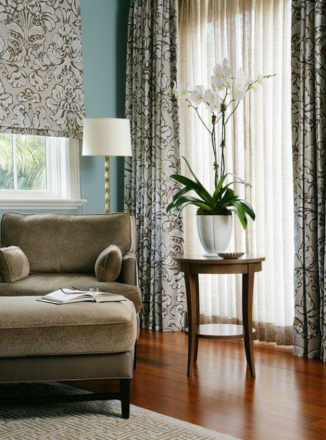 Шторы с принтом #шторы #ткань #домашнийтекстиль #текстиль #дом #дизайн #интерьер #орхидея