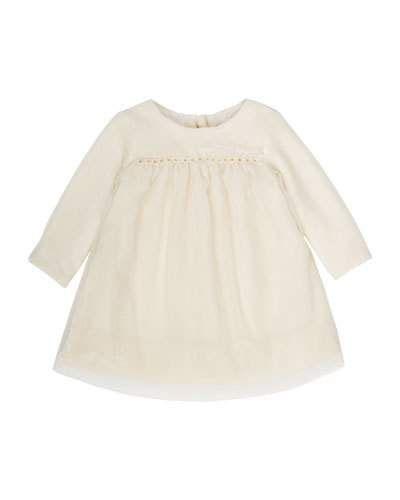 ebde44b61 K0Q9K Bonpoint Tulle & Velvet Babydoll Dress. Size 6M-2Y | Alayna ...