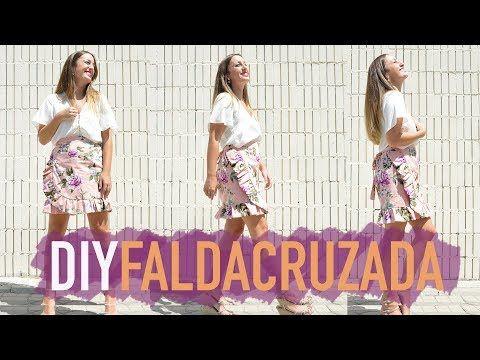 fa20fa9e6 Como hacer una falda cruzada, muy fácil (Incluido patrón)| DIY ...