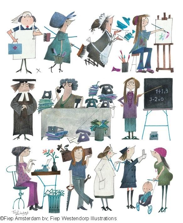 illustrator: Fiep westendorp For international women's day