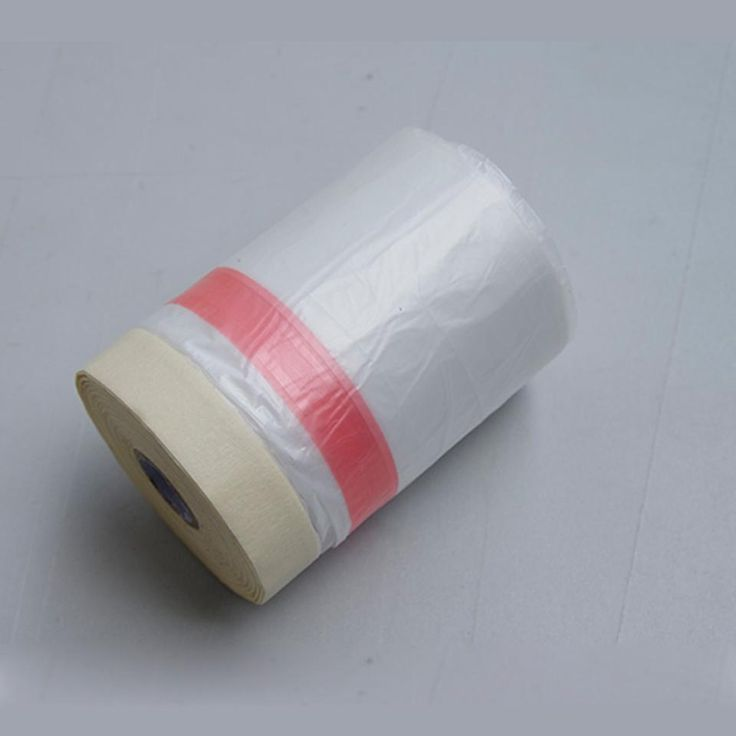 055x25m roll pretaped masking film spray paint protection film pretaped plastic drop cloth masking film for car rim painting mx106w