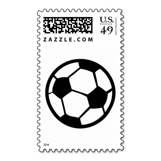 soccer ball icon postage stamps. Wanna make each letter a special delivery? Try to customize this great stamp template and put a personal touch on the envelope. Just click the image to get started!