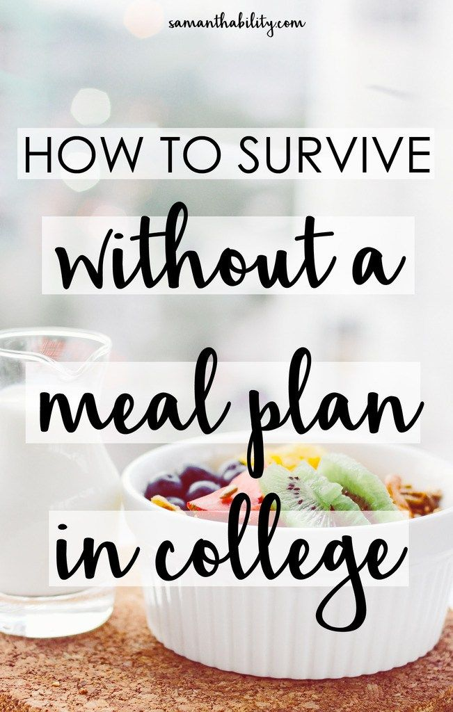 How to survive without a meal plan in college! Cooking for yourself in college and shopping for groceries can be hard to get used to! Survive with these tips and hacks!
