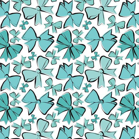 blue bows pattern fashion illustration