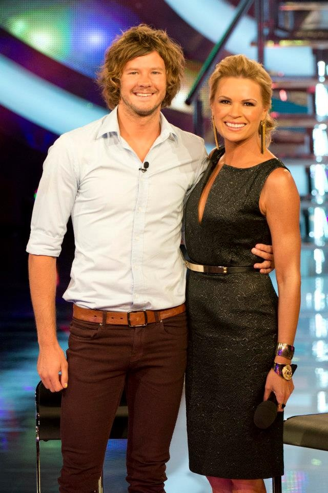 The gorgeous Sonia Kruger wearing the Lotus Mendes King Tut Hand Cuff in Gold and the NEW 3 Acts of Life Directional ring on Big Brother!