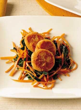 Gallette di fagioli con spinaci e carote - Beans croquettes with spinach and carrots