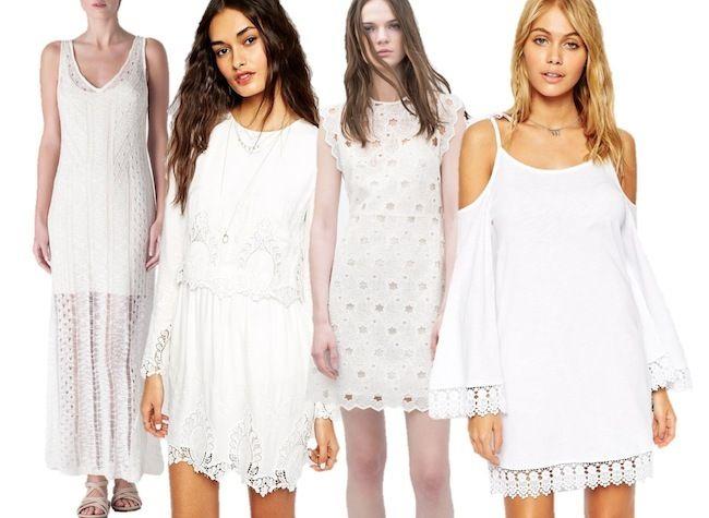 Complementos para un vestido blanco corto