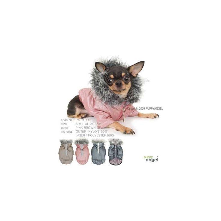BOMBER SLINKY, de la firma Puppy Angel, resistente cortavientos ideal para días de frío, viento o lluvia. Es impermeable, disponible en gris o rosa. http://bit.ly/1Mgn9Df