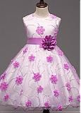 Buy discount In Stock Chic Organza Jewel Neckline Ankle-length Ball Gown Flower Girl Dresses With Lace Appliques & Bowknot at Dressilyme.com