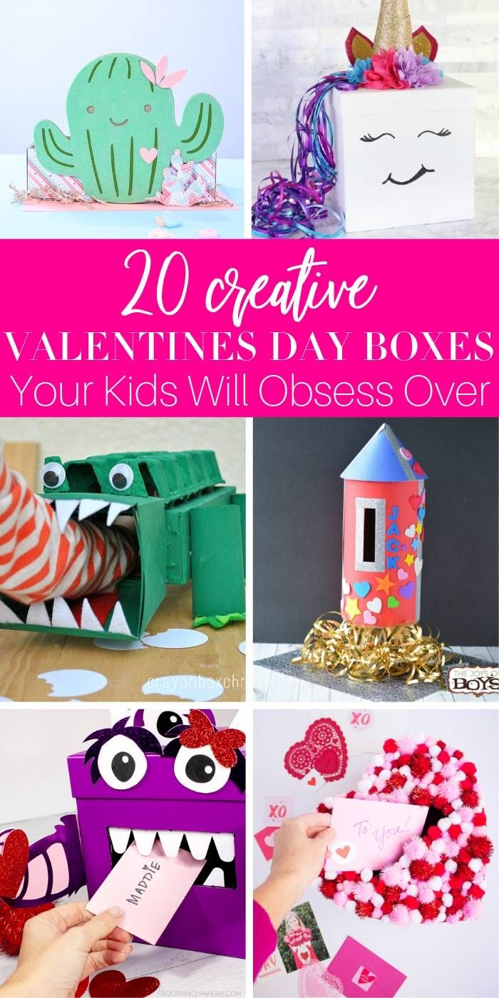 Make One Or More Of These Creative Valentines Day Boxes For Kids These Valentine Box Ideas Might Be A Pe With Images Valentine Day Boxes Creative Valentines Valentine Box