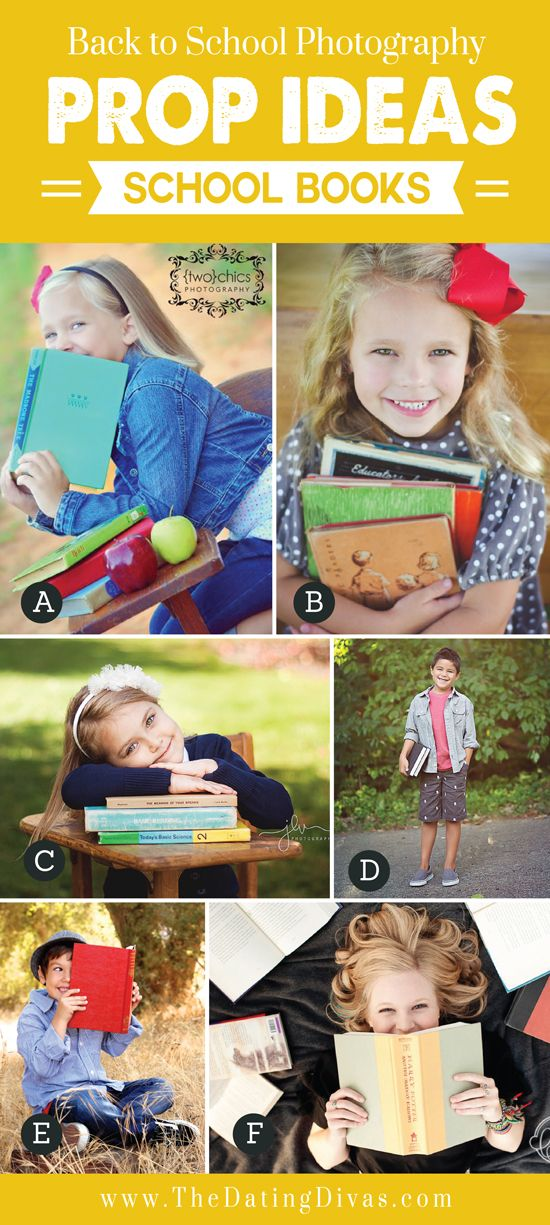 Back to School Photography Prop Ideas School Books